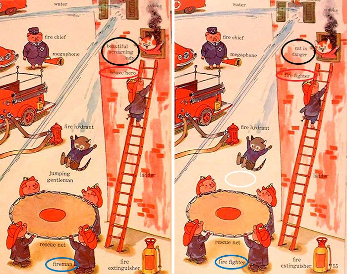 changes-updates-social-norms-richard-scarry-fire-fighter