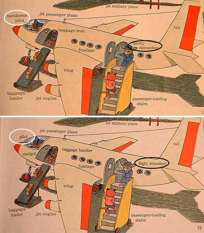 changes-updates-social-norms-richard-scarry-plane