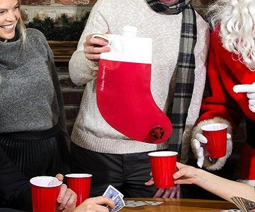 christmas stocking flask red