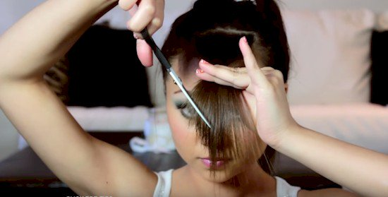 cutting bangs