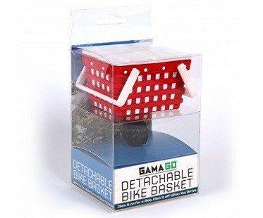 detachable bike basket white red box