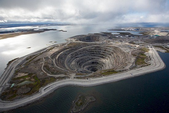 diamond mine close up aerial