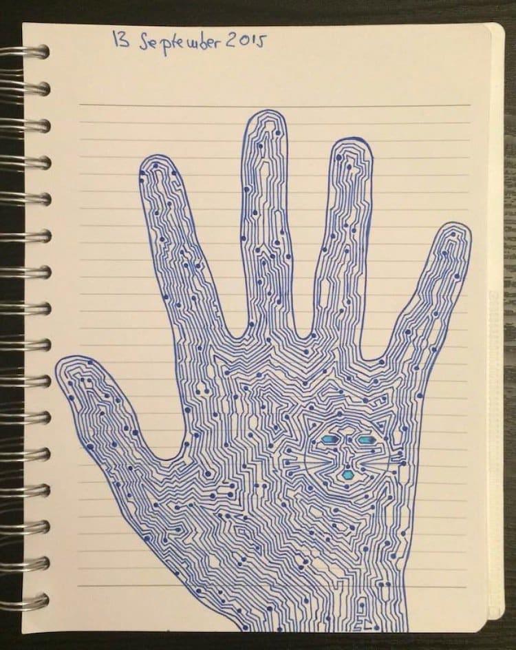 doodle-blue