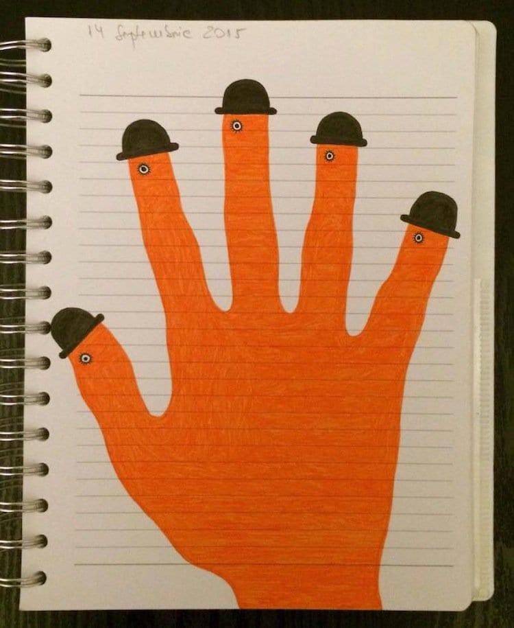 doodle-orange