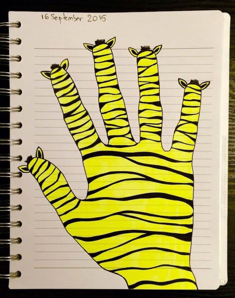 doodle-yellow