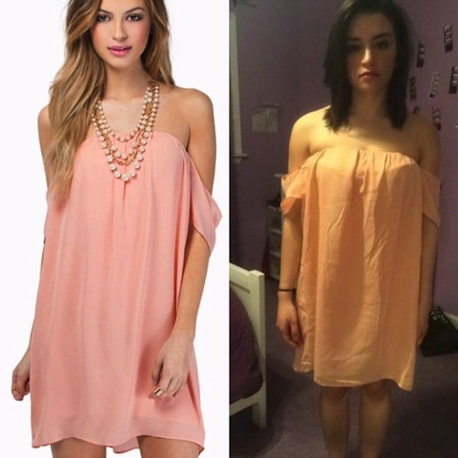 pink shirt dress expectations vs reality