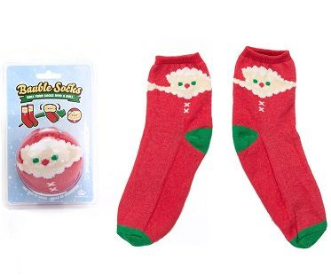 father christmas bauble socks pack