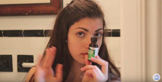 girl tea tree oil