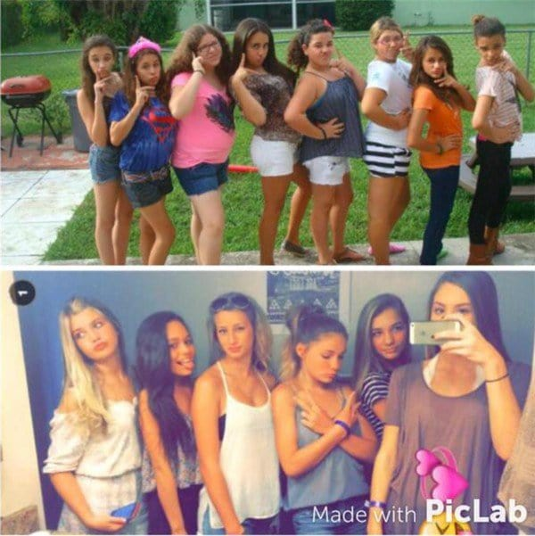 girls then and now