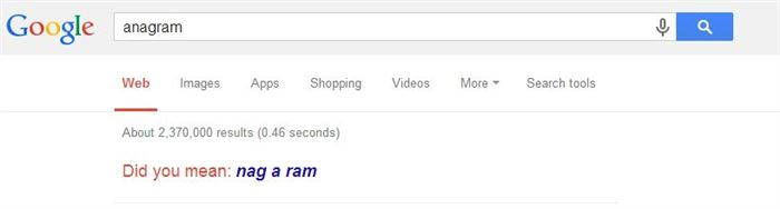 google anagrams