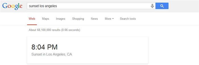 google sunset