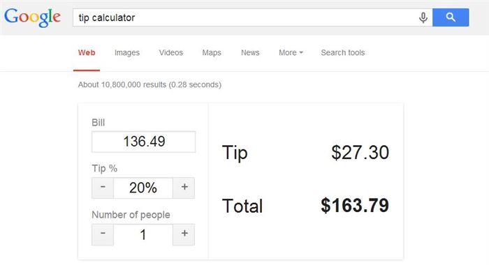google tip calculator