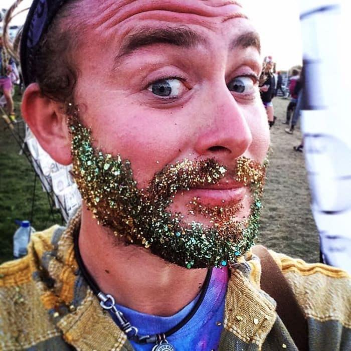 guy glittery beard