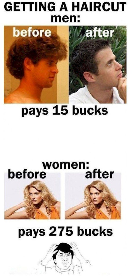 haircut men women