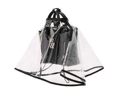 handbag raincoat plastic