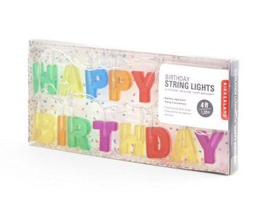 happy birthday string lights box