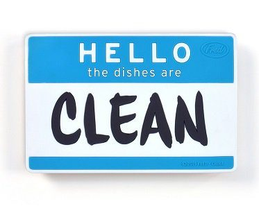 hello dishwasher sign clean