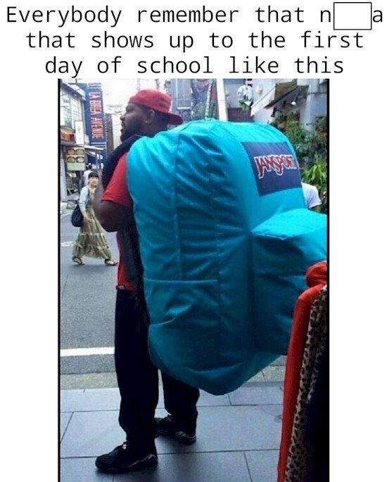 huge bag guy