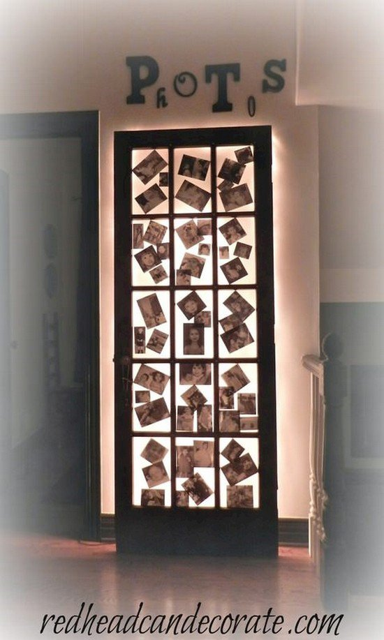 illuminated photo door