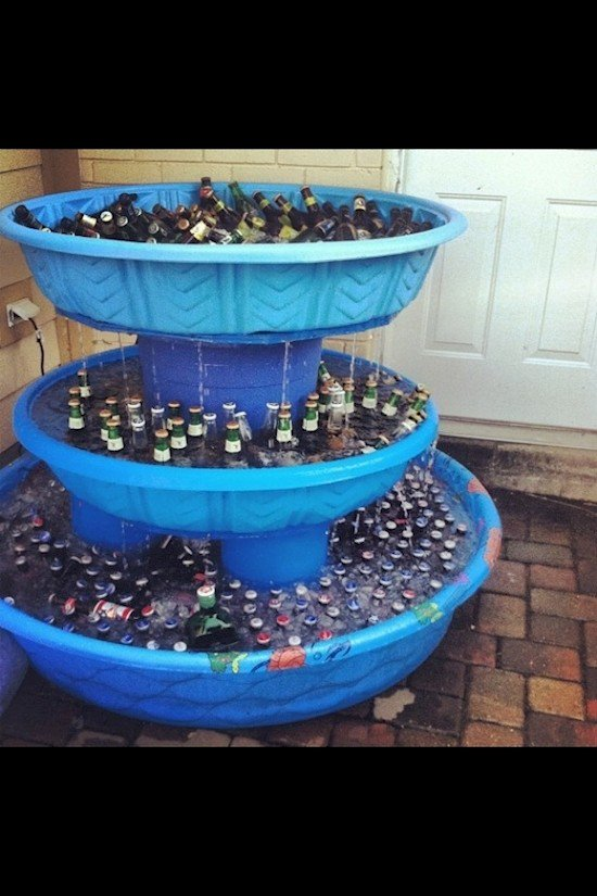 kiddie pool drinks fountain