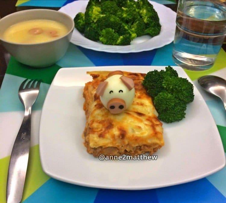 lasagna pig