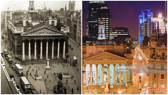 london uk then and now