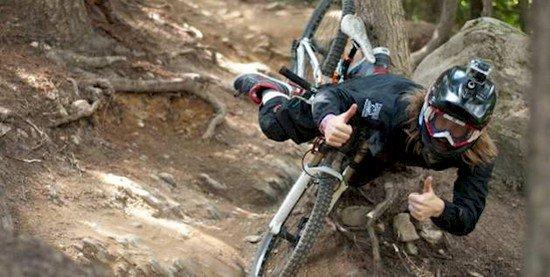 man falling from bike