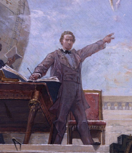 man teaching