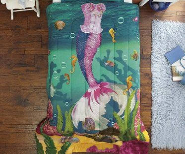 mermaid bedding set princess