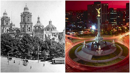 mexico city then and now