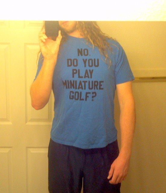 mini golf tee