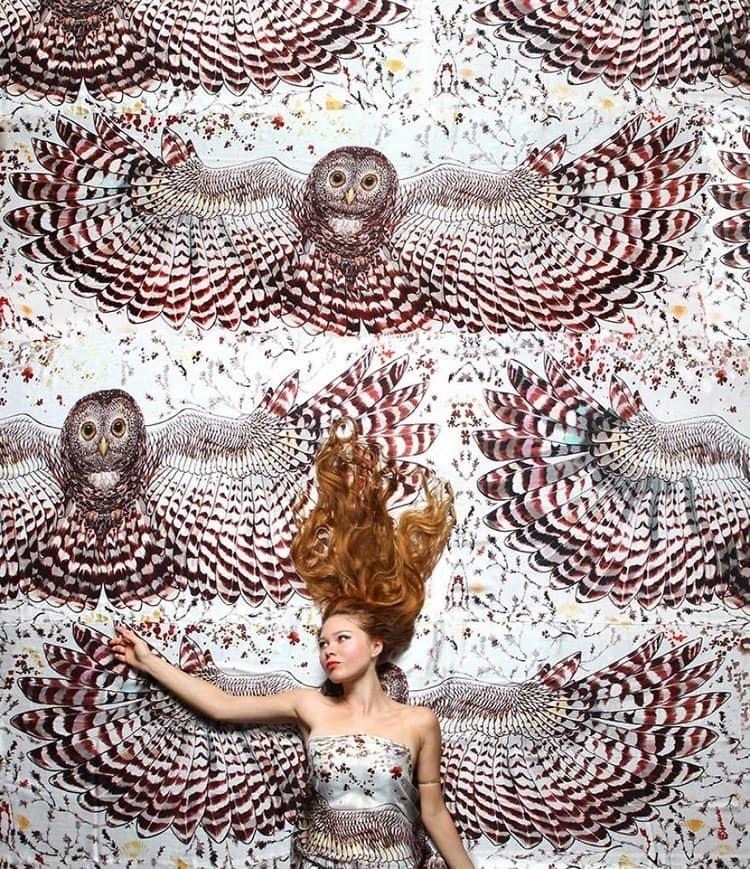 model owl scarf