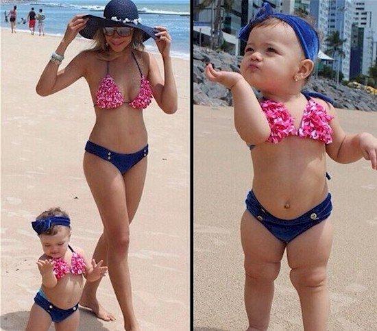 mom baby same bikini