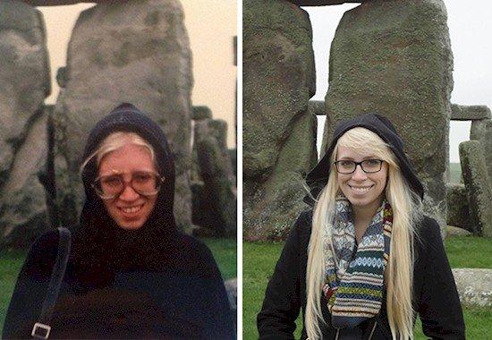 mom daughter stonehenge