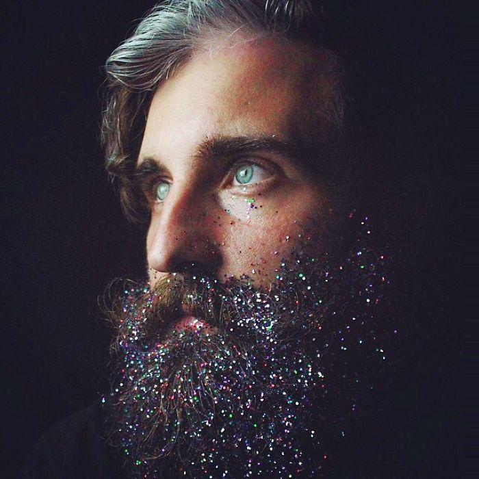multi colored beard
