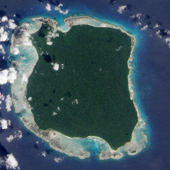 north sentinel island above