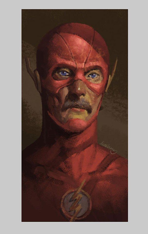 old-superhero-paintings-eddie-liu-flash