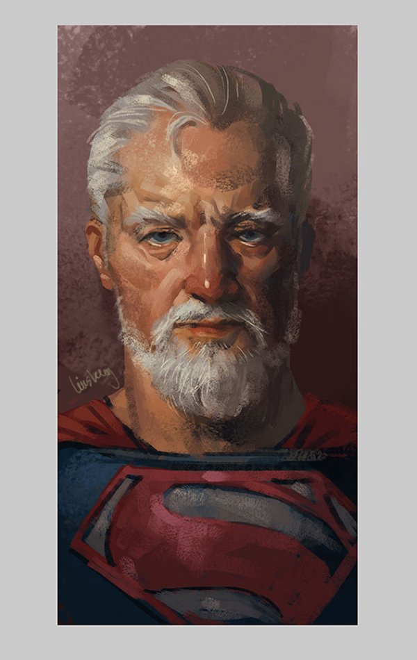 old-superhero-paintings-eddie-liu-superman