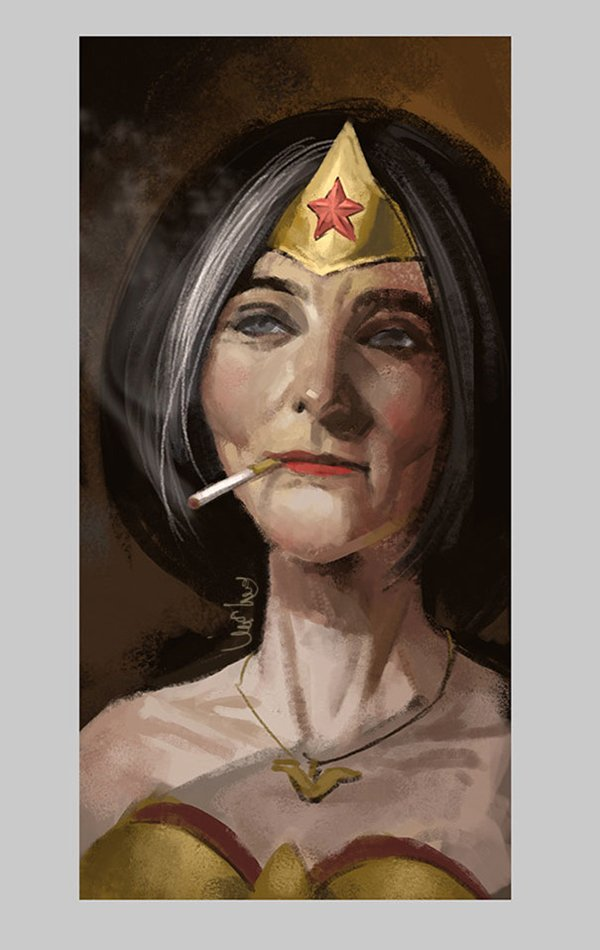 old-superhero-paintings-eddie-liu-wonderwoman