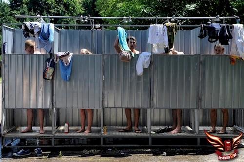 people showering