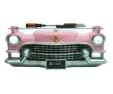 pink cadillac wall shelf