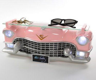 pink cadillac wall shelf elvis