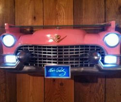 pink cadillac wall shelf lights