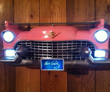 pink cadillac wall shelf lights