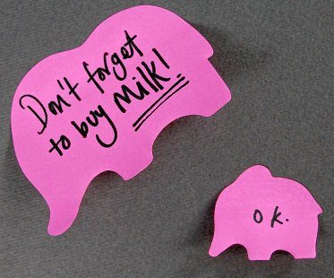 pink elephant sticky notes