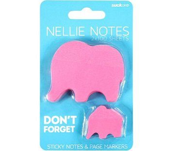 pink elephant sticky notes pack