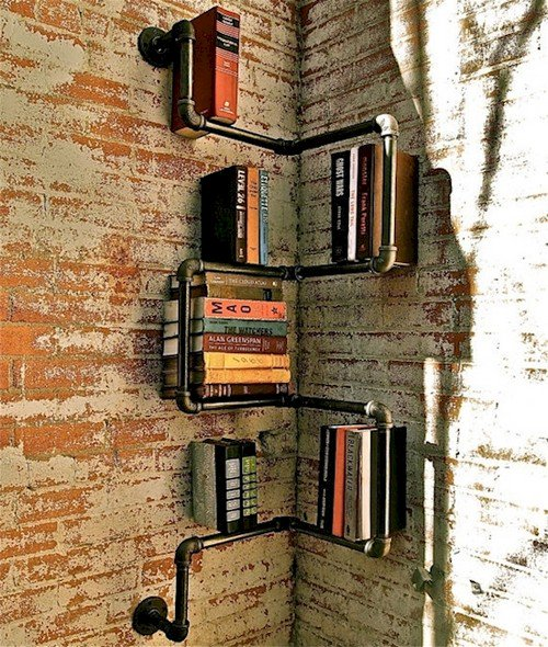 pipe book rack