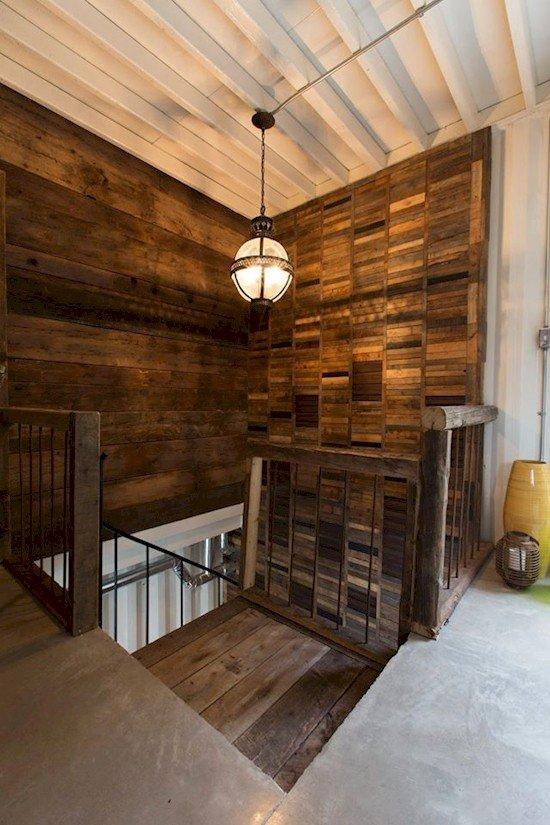 plank boards stairwell