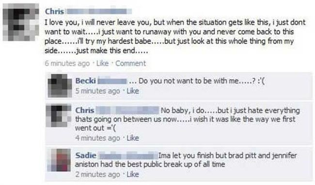 public breakup facebook