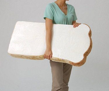 sliced bread chair white cushion